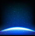 dark blue space background vector image vector image