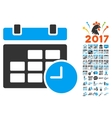 Date And Time Icon With 2017 Year Bonus Pictograms vector image vector image