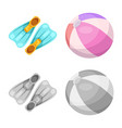design of pool and swimming icon set of vector image