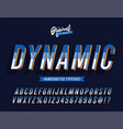 dynamic vintage 3d stylish alphabet vector image vector image