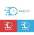 fast clock logo combination Speed timer vector image vector image
