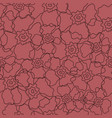 floral line art seamless pattern vector image vector image