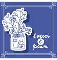Flower vase design vector image vector image