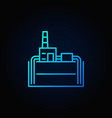 geothermal power plant blue icon vector image