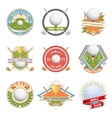 Golf club logo set vector image