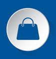 handbag bag - simple blue icon on white button vector image