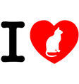 I Love My Cat vector image vector image