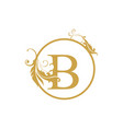 initial b letter luxury beauty flourishes