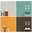 Interior concept of graphic collection design vector image vector image