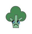 Kawaii cute crying broccoli vegetable