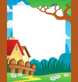 landscape theme frame 1 vector image vector image