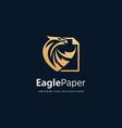logo eagle paper gold color luxury vector image