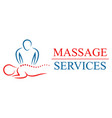 logotype for massage salon and vector image