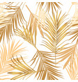 luxurious botanical tropical leaf background gold vector image vector image