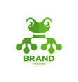 modern frog and technology logo vector image