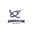 modern professional american football logo for vector image