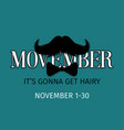 moustaches movember blog post template for vector image