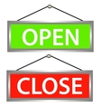 Open and close icons vector image vector image