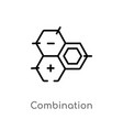 outline combination icon isolated black simple vector image vector image