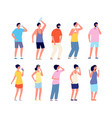 people cooling hot summer sweaty adult woman man vector image