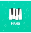 Piano keys flat logo isolated on green vector image