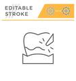 plague removal editable stroke line icon vector image vector image