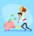poor bankrupt businessman office worker character vector image