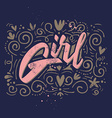 print for womens shirts girl vector image vector image