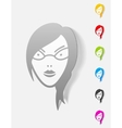 realistic design element face girl vector image vector image