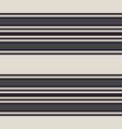 retro pattern with horizontal gray stripes vector image