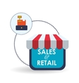Sales and retail design Shopping icon White vector image vector image