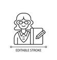 secretary linear icon vector image vector image