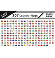 set 207 country flags piggy bank vector image vector image