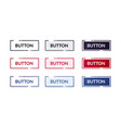set different modern flat buttons web element vector image vector image