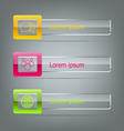 Set of banners on grey background vector image