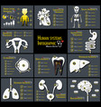 set of human systems infographics vector image