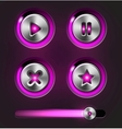 Set of media player elements vector image vector image