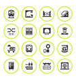 set round icons of subway vector image vector image