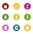 shtof icons set flat style vector image vector image