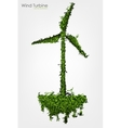 Simple Grass Covered Wind Turbine vector image vector image