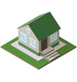 small country house isometric icon isolated on vector image