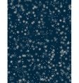 Snowfall Seamless pattern vector image