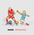 soccer player hits ball in tackle vector image