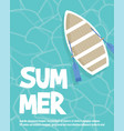 summer beach party flyer with typographic vector image vector image