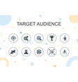 target audience trendy infographic template thin