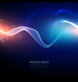 technology digital background in wavy futuristic vector image vector image