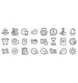 time line icons set calendar management vector image vector image