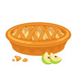 traditional american apple pie with open top and vector image vector image