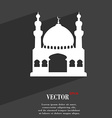 Turkish architecture mosque symbol Flat modern web vector image