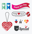 Valentines day Love symbol design vector image